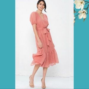 🍅Flying Tomato🍅Mauve Ready For Spring Midi Dress